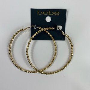 Bebe Gold Hoop Earrings NWT $29
